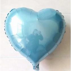 Açık Mavi Kalp Folyo Balon 60 cm