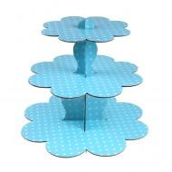 Mavi Puantiyeli Cupcake Standı