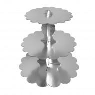 Metalik Gümüş Cupcake Standı