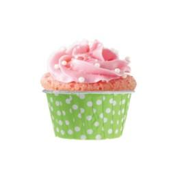 Yeşil Puantiyeli Muffin 50'li