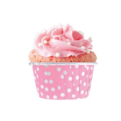 Pembe Puantiyeli Muffin 50'li