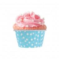 Mavi Puantiyeli Muffin 50'li