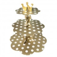 Gold Puantiyeli Cupcake Standı
