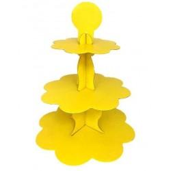 Metalik Sarı Cupcake Standı