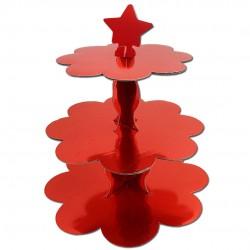 Metalik Kırmızı Cupcake Standı