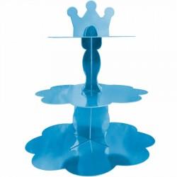 Metalik Mavi Cupcake Standı