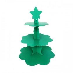 Metalik Yeşil Cupcake Standı