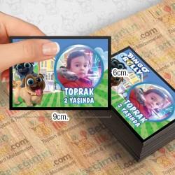 Bingo ve Rolly Temalı Kişiye Özel Magnet 10 Adet