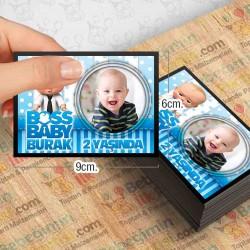 Boss Baby Temalı Kişiye Özel Magnet 10 Adet