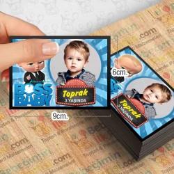 Boss Baby 2 Temalı Kişiye Özel Magnet 10 Adet