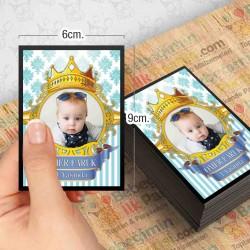Kral Taç Mavi Gold Özel Magnet 10 Adet