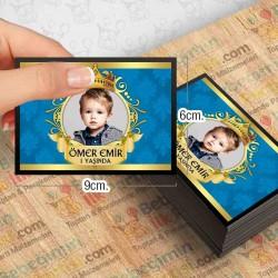 Kral Taç Mavi Gold Yatay Özel Magnet 10 Adet