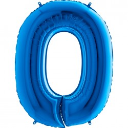 0 Rakam Grabo Mavi Folyo Balon 102 cm