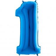 1 Rakam Grabo Mavi Folyo Balon 102 cm