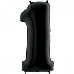 1 Rakam Grabo Siyah Folyo Balon 102 cm