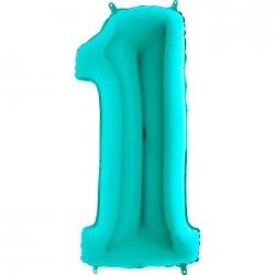 1 Rakam Grabo Tiffany Folyo Balon 102 cm