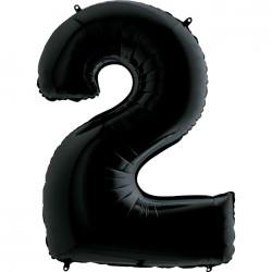 2 Rakam Grabo Siyah Folyo Balon 102 cm