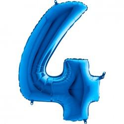 4 Rakam Grabo Mavi Folyo Balon 102 cm