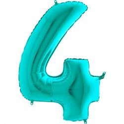 4 Rakam Grabo Tiffany Folyo Balon 102 cm