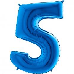 5 Rakam Grabo Mavi Folyo Balon 102 cm