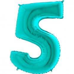 5 Rakam Grabo Tiffany Folyo Balon 102 cm