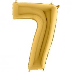 7 Rakam Altın Folyo Balon 80 cm