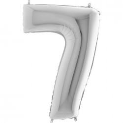 7 Rakam Gümüş Folyo Balon 40 cm