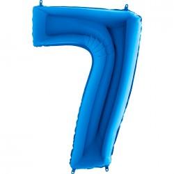 7 Rakam Mavi Folyo Balon 80 cm