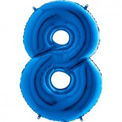8 Rakam Mavi Folyo Balon 102 cm