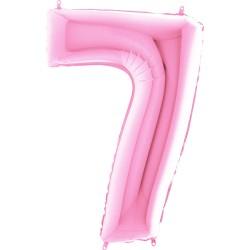 7 Rakam Açık Pembe Folyo Balon 80 cm