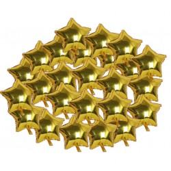 Gold Yıldız Folyo Balon Seti 25'li
