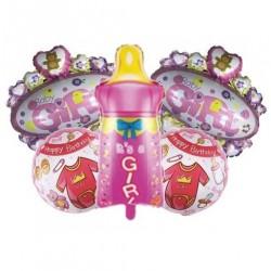 Biberon Pembe 5'li Set Balon