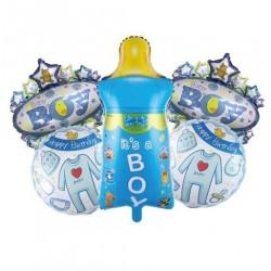 Biberon Mavi  5'li Set Balon