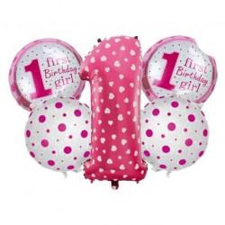 1 Yaş Pembe 5'li Set Balon