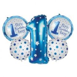 1 Yaş Mavi 5'li Set Balon