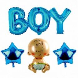 Boy Yazılı 4'lü Folyo Balon Seti