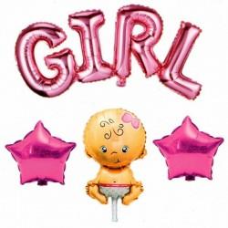 Girl Yazılı 4'lü Folyo Balon Seti