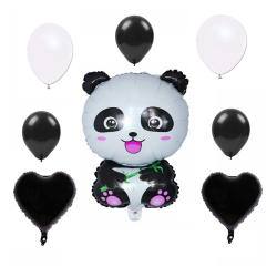 Panda Folyo ve Lateks Balon Set