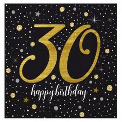Işıltılı Doğum Günü 30 Yaş Kağıt Peçete 33x33 cm 20'li