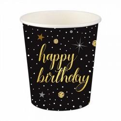 Işıltılı Doğum Günü Karton Bardak 8'li