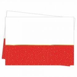 Parti Zamanı Kırmızı Plastik Masa Örtüsü 120x180 cm