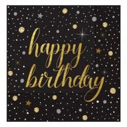 Işıltılı Doğum Günü Kağıt Peçete 33x33 cm 20'li