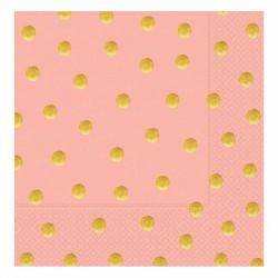 Pastel Düşler Somon Kağıt Peçete 33x33 cm 20'li