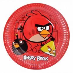 Angry Birds Karton Tabak 23 cm 8'li