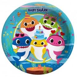 Baby Shark Karton Tabak 23 cm 8'li