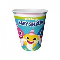Baby Shark Karton Bardak 8'li