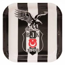 Beşiktaş Karton Kare Tabak 21 cm 8'li