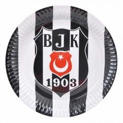 Beşiktaş Karton Tabak 23 cm 8'li