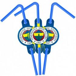 Fenerbahçe Lisanslı Pipet 6'lı