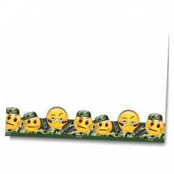 Kamuflaj Emoji Plastik Masa Örtüsü 120x180 cm